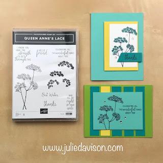 "16 Alternative ""Get & Go"" Project Ideas ~ Queen Anne's Lace Card ~ www.juliedavison.com #stampinup"