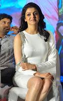 Beautiful Smiling Kajal Aggarwal in Creamy White Gown at MLA Telugu Movie Success Meet ~ .com Exclusive Pics 023.jpg