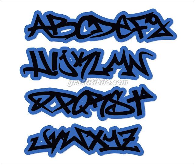 Graffiti schrift abc für anfänger.