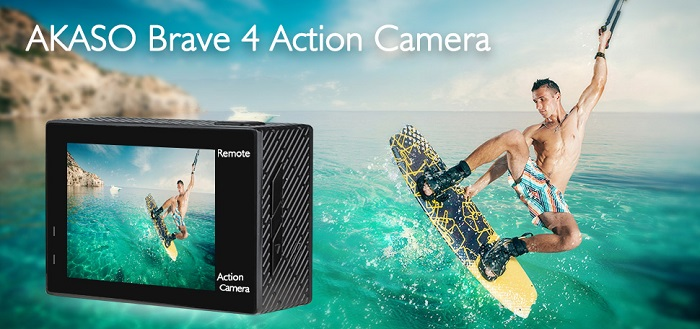 AKASO Brave 4 - 4K 20MP Ultra HD Action Camera