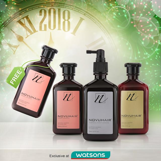 novuhair herbal shampoo promo pack
