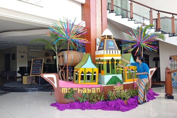 Dekorasi Ramadhan Entrance di Hotel