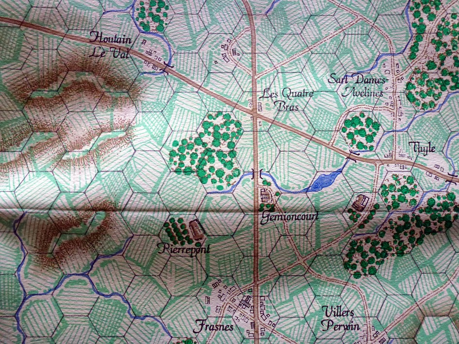 Quatre Bras battlefield from La Armee du Nord games
