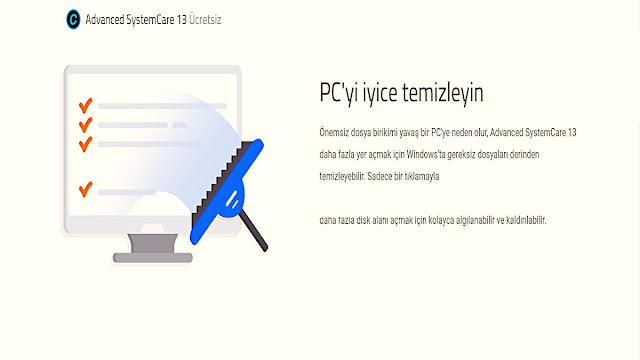 Önemsiz dosya birikimi yavaş bir PC'ye neden olur, Advanced SystemCare 13 daha fazla yer açmak için Windows'ta gereksiz dosyaları derinden temizleyebilir.