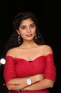 Actress Bindu Pictures in Red Dress at Attarillu Movie Press Meet 0013.JPG