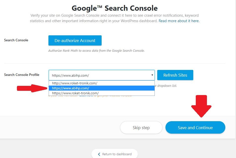 Search Console Profile