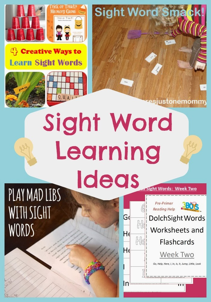 Sight Word Learning at Mom's Library