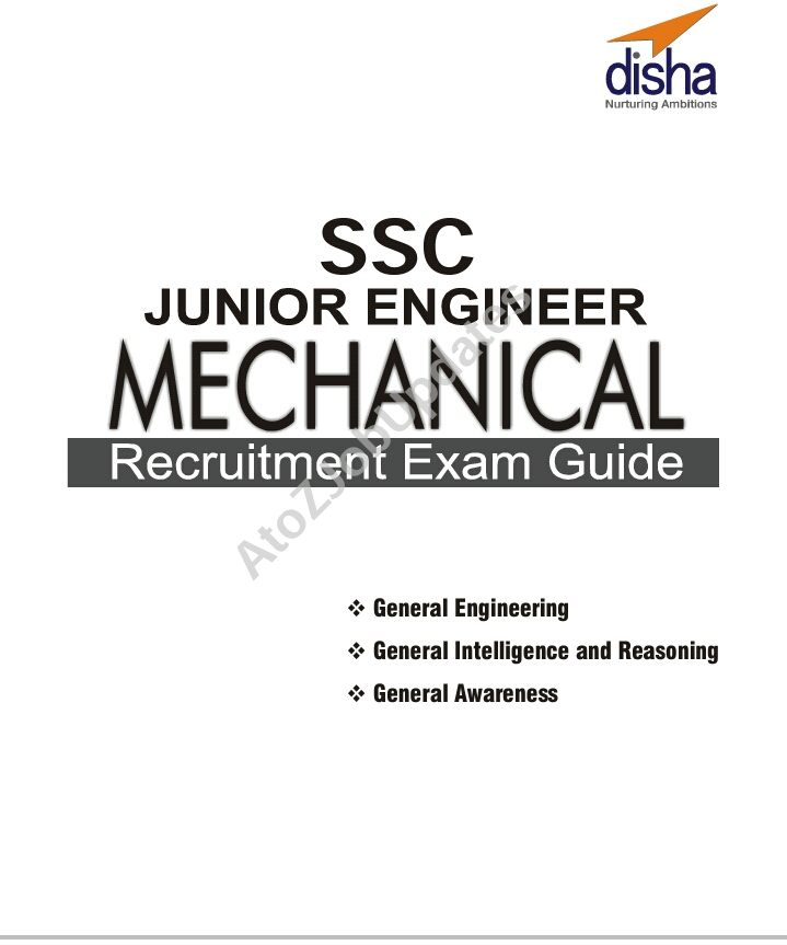 SSC JE Mechanical Recruitment Exam Guide by Disha