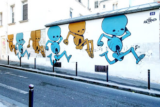 Sunday Street Art : Retro - rue Jean-Baptiste Dumay - Paris 20