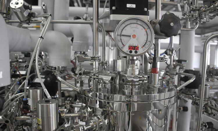 Equipos pertenecientes a una planta de bioprocesamiento