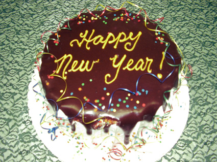 New Year's Day Cakes With Name