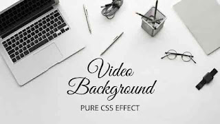 Full Screen Video Background with HTML CSS