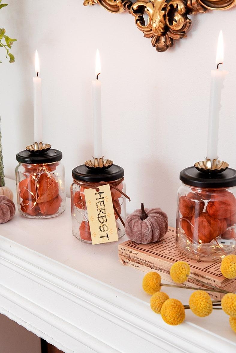 Kerzenständer aus Altglas basteln