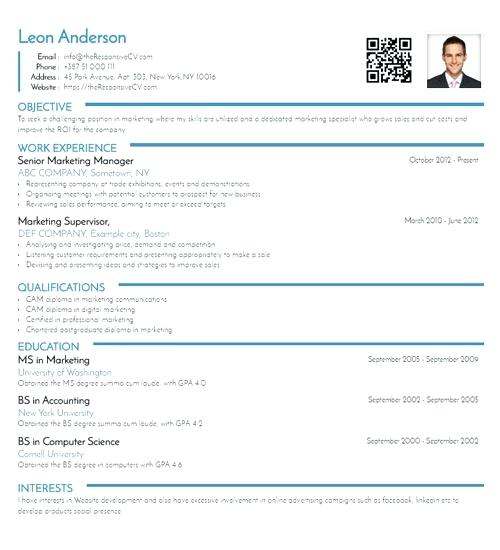 Resume Template Linkedin 2019 - Lebenslauf Vorlage Site