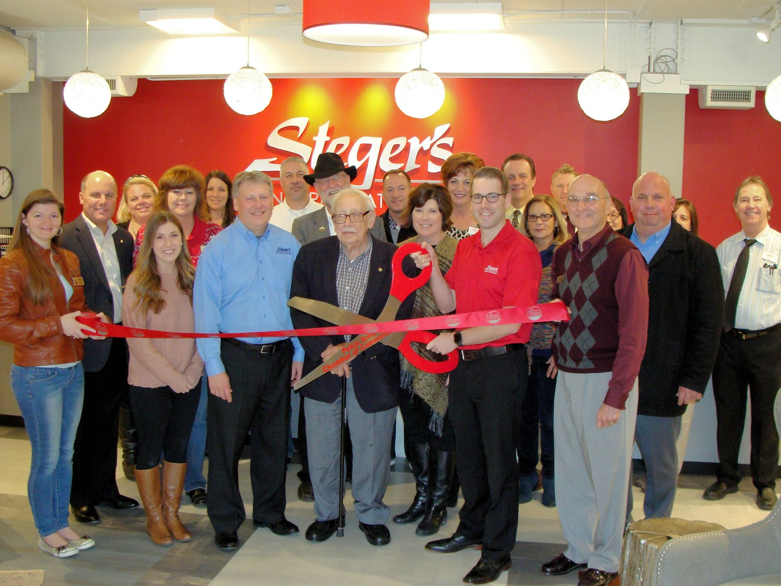 Genial Representatives From The Pekin Area Chamber Of Commerce And The City Of  Pekin Held A Ribbon Cutting At Stegeru0027s Furniture On December 1.
