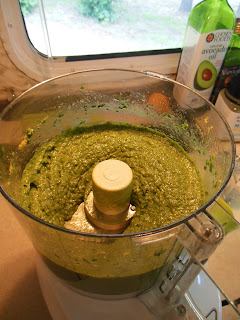 Popeye Pesto, made with spinach and nutritional yeast!