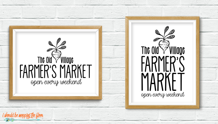 Farmer's Market Printable