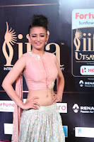 Akshara Haasan in Peachy Crop Top Choli Skirt at IIFA Utsavam Awards 39.JPG