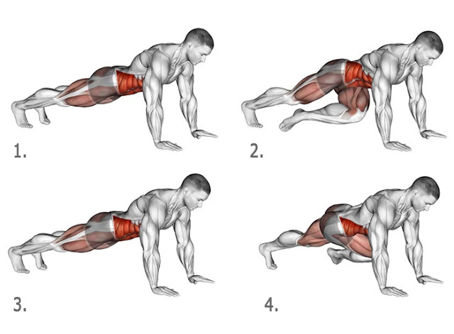 Knee-To-Elbow  - advanced glute workout