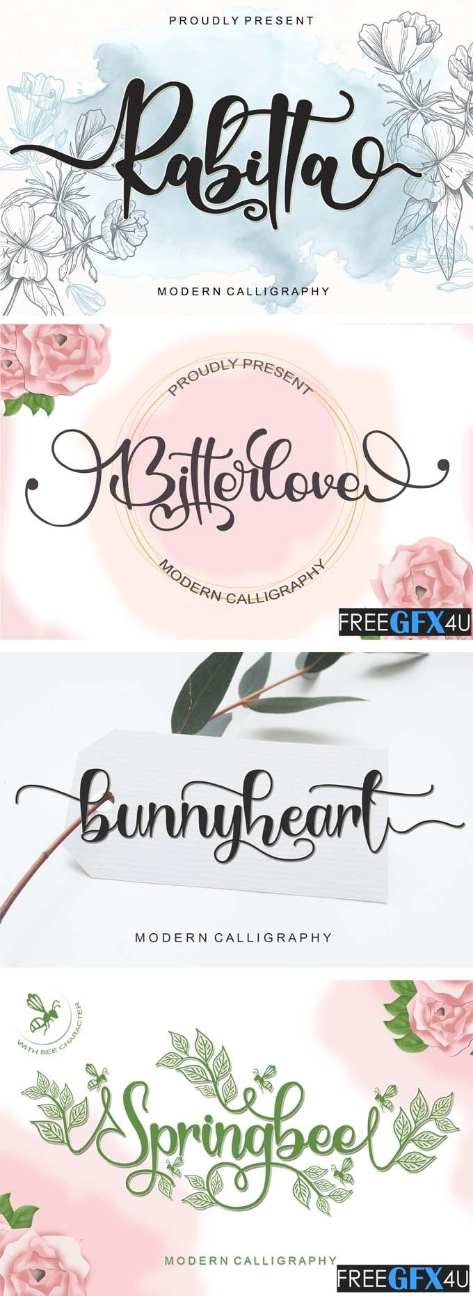 Lovely Spring Bundle – 21 fonts in 1