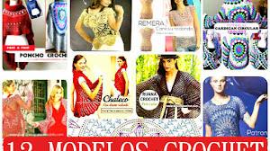 12 Chaquetas Ponchos y Boleros tejidos con círculos crochet