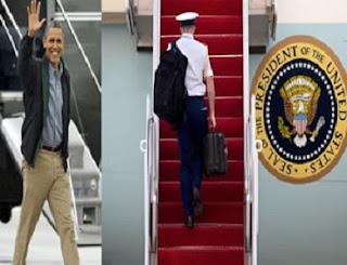 Mysterious BLACK BRIEFCASE Follows United States President Obama