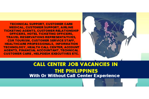 Are you looking for a call center job? The following are job vacancies for you. If interested, you may contact the employer/agency listed below to inquire further or to apply.