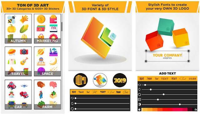 3D Logo Maker - Aplikasi Membuat Logo Terbaik di Android