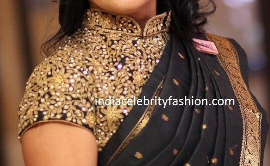 Kundan Work Collar Blouse Design