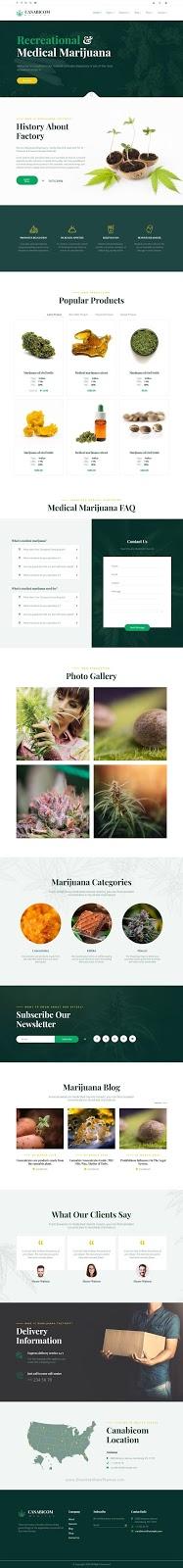 Cannabis Joomla Responsive Template