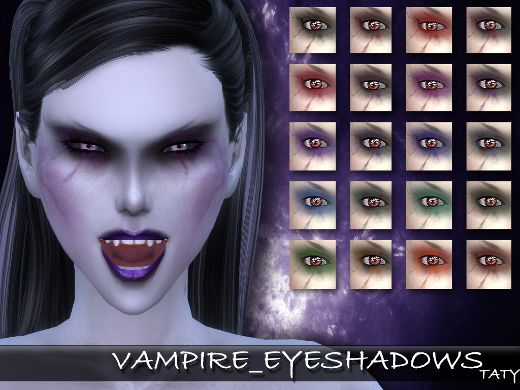 My Sims 4 Blog Vampire Clothing And Makeup Set By Taty86