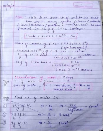 Handwritten Notes Chemistry : for all Competitive Exams