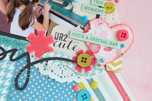 Hello Happy Layout by Juliana Michaels details