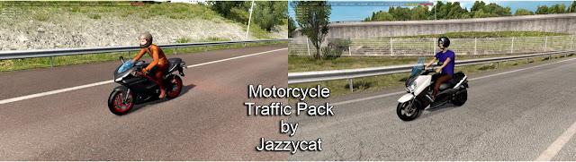 ets 2 motorcycle traffic pack v2.8 screenshots 1, Ducati 848 Evo, Yamaha XMax