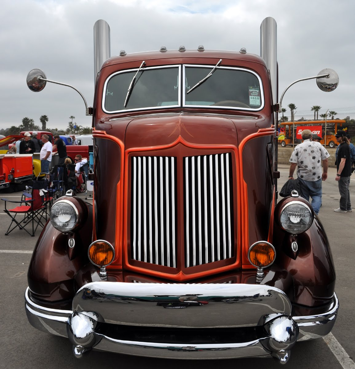 Mack Truck Rod Before And After: Just A Car Guy: Al Meyling's '47 Cab Over Hot Rod Hauler