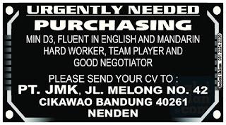 Lowongan Kerja Staff Purchasing Bandung