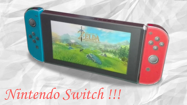 Nintendo switch en papier, papercraft