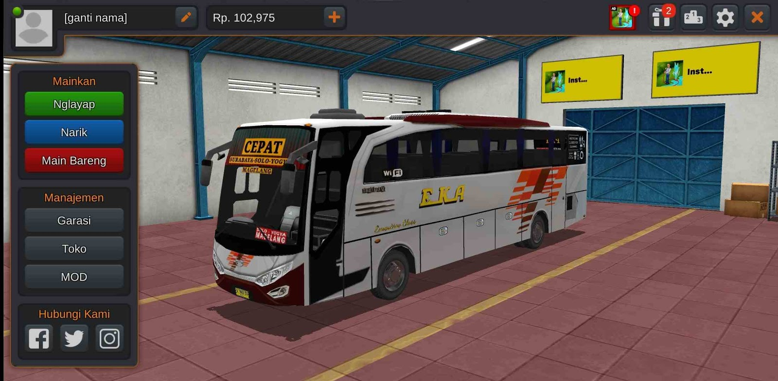 Download Skin BUSSID (Bus Simulator Indonesia) EKA Cepat di Android