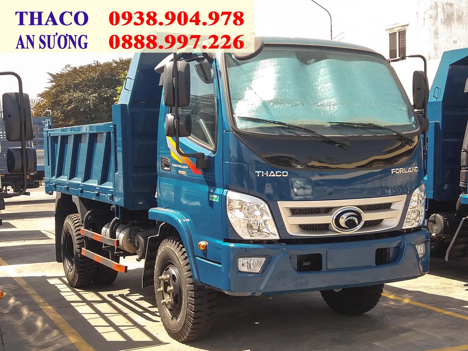 Xe ben Forland Thaco FD500 tải trọng 4.99 tấn. thùng 4.1 khối