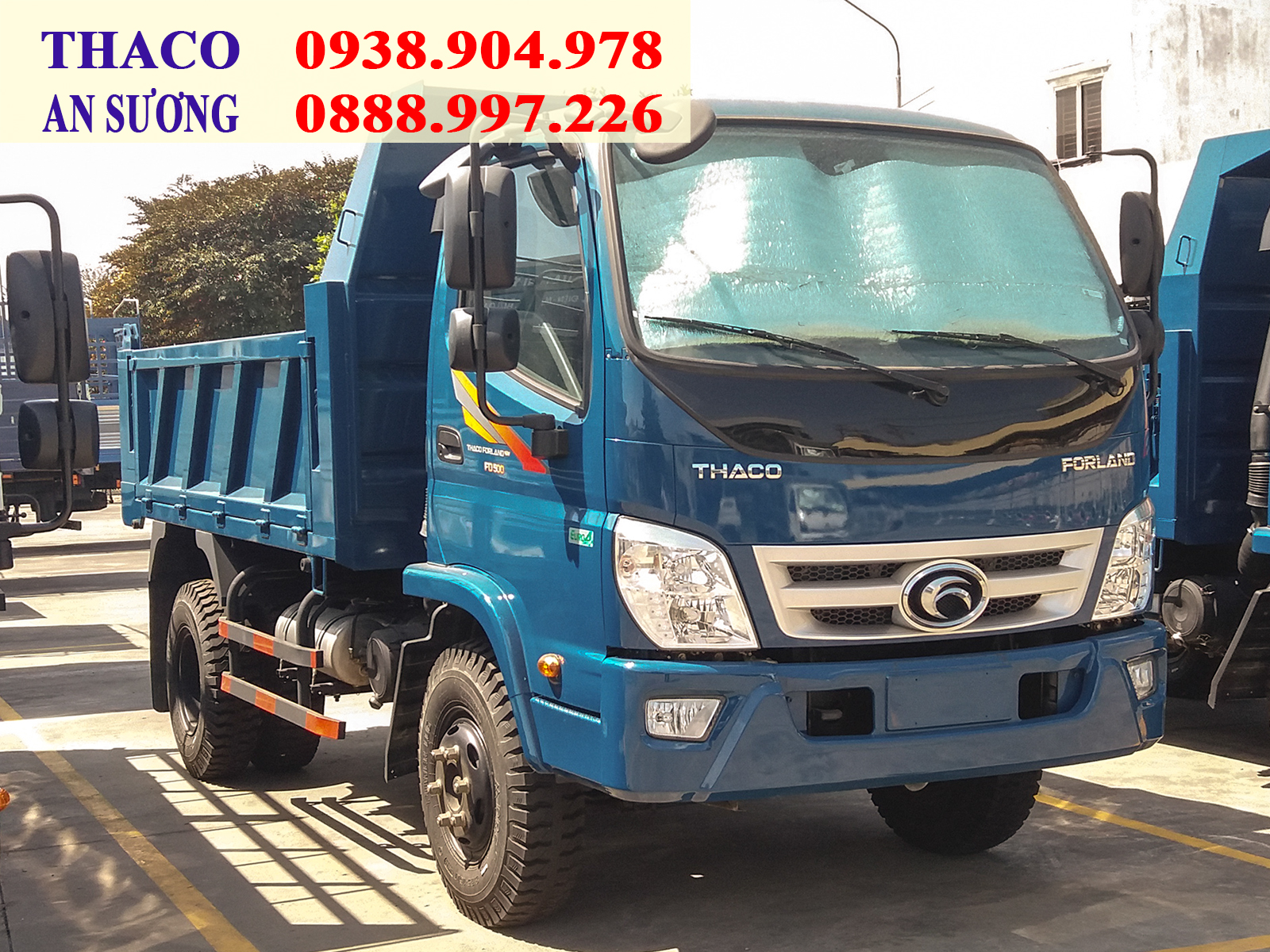 Xe ben Forland Thaco FD500 tải trọng 5 tấn, thùng 4,1 khối