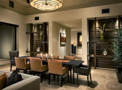 desain ruang makan klasik romantis