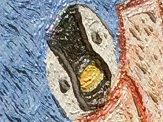 油絵風イラストのアップ写真