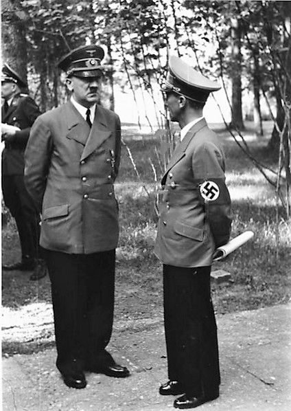 Hitler and Goebbels in East Prussia, 8 July 1941 worldwartwo.filminspector.com