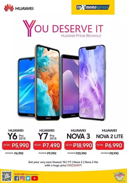 Select Huawei Smartphones Get Discounts at MemoXpress