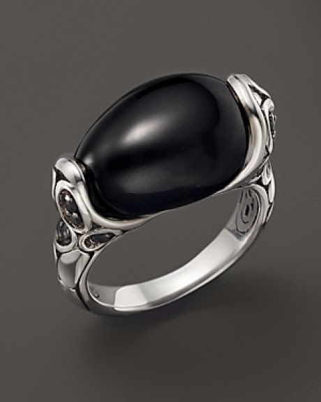 Batu Cincin Black Oval Bagus