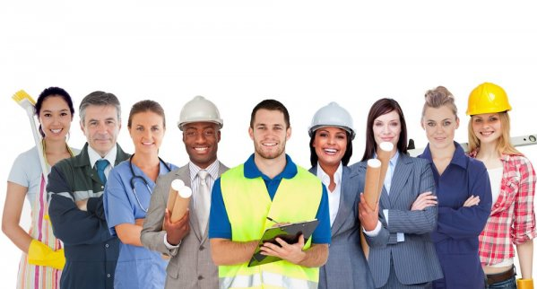 Job offers in several professions
