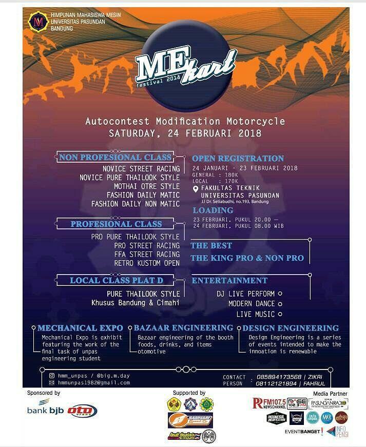 Me Kart Festival 2018 Poster