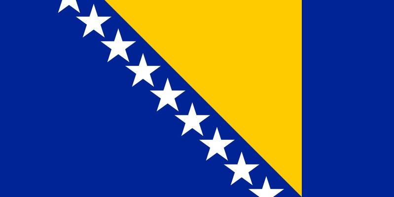Bayrağında sarı renk olan ülkeler Bosna Hersek bayrağı