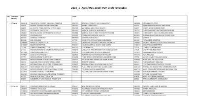 Download NOUN 2019 POP Exam Timetable First Draft.PNG