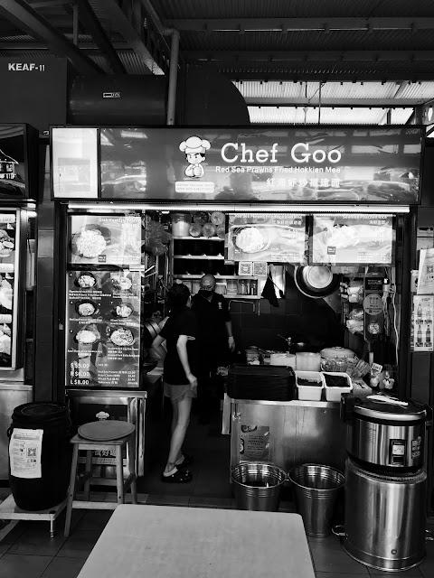 Chef Goo Red Sea Prawns Fried Hokkien Mee, Alexandra Food Village